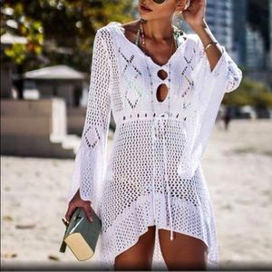 Other - ✨White Crochet Beach Coverup✨OS✨